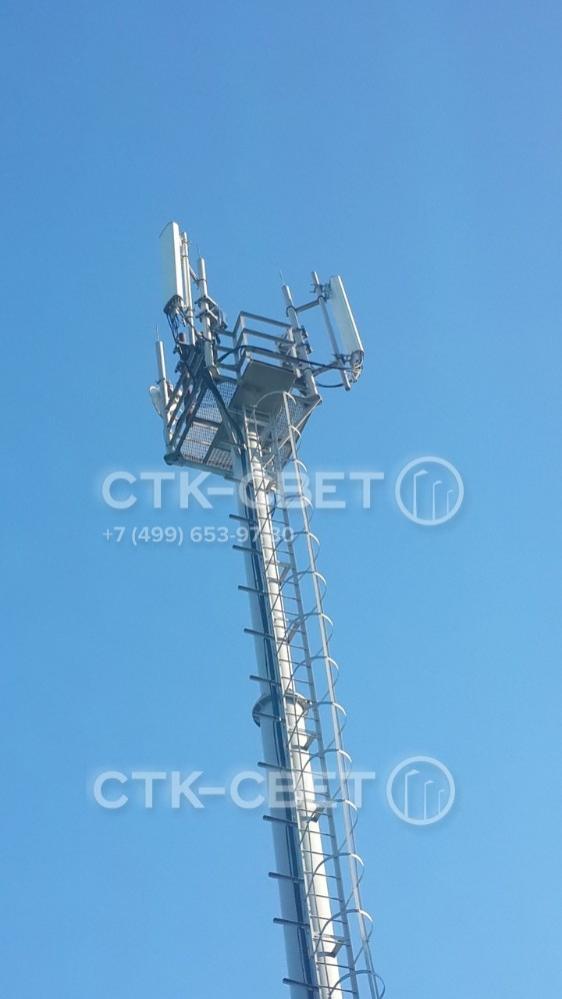 Тип, количество и места установки радиокоммуникационного оборудования зависят от разновидности выбранной рамы. Каждая мачта проектируется индивидуально с учетом пожеланий заказчика и требований действующих нормативов.