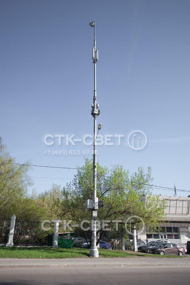 Одна мачта связи может использоваться для размещения большого количества коммутационного оборудования на улицах города. Поэтому у инженеров появляется возможность сократить число инженерных конструкций в населенных пунктах.