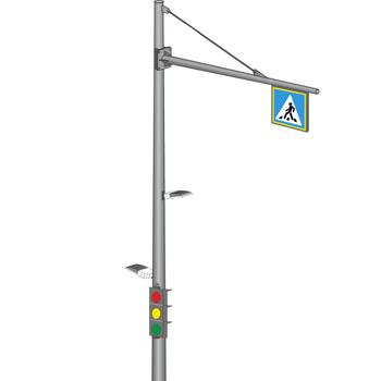 ОКСГ Круглоконическая светофорная стойка контрастного освещения
