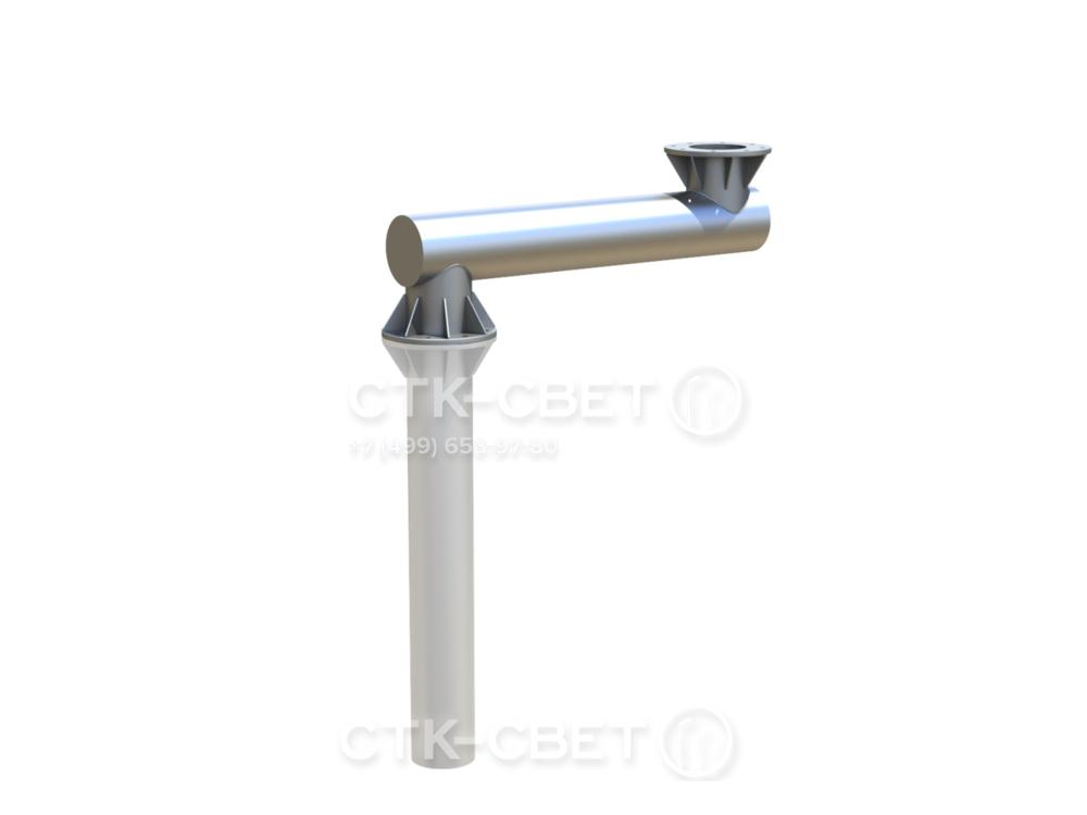 Консоль может иметь два фланца – один для крепления к закладной детали фундамента, другой для фиксации наземной части ствола. Это наиболее универсальное решение, так как позволяет индивидуально подбирать ЗДФ и опоры.