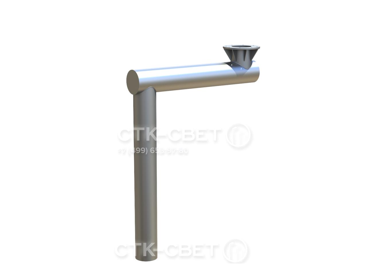 На фото представлен вариант консоли с одним фланцем. В этом случае с противоположной стороны установлен трубчатый элемент, который играет роль закладной детали фундамента. Отдельно ЗДФ приобретать не нужно.